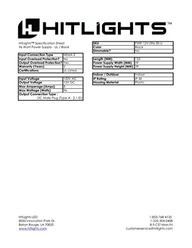 15 Watt 1 25 Amp 12 Volt Dc Led Light Strip Power Supply
