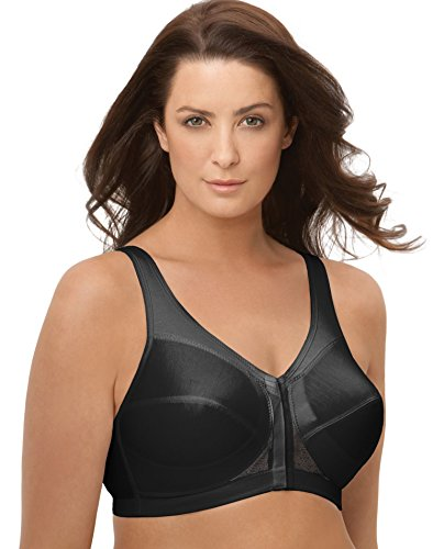 Glamorise Magic Lift Posture Back Support Wire-Free Bra, 44B, Black