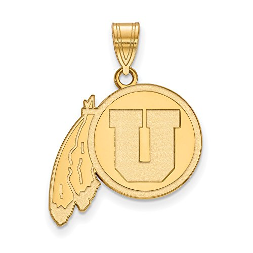 Utah Large (3/4 Inch) Pendant (14k Yellow Gold) by LogoArt