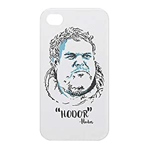 Loud Universe Apple iPhone 4/4s 3D Wrap Around Hodor Print Cover - White