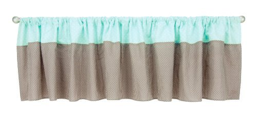 - Trend Lab Cocoa Mint Window Valance, Taupe by Trend Lab