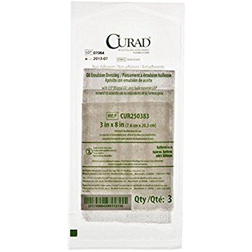 Curad CUR250383Z Dressing, Gauze, Oil Emlsn, 3'' x 8'' (Pack of 108)