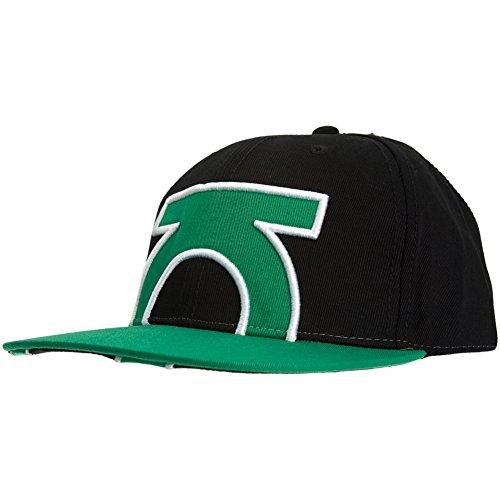 Green Lantern - Mens Cropped Logo Fitted Cap Large/x-large Black - Green Lantern Cap