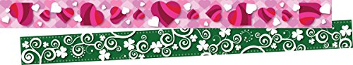 Hearts Border Trim - Barker Creek Double-Sided Border 2 Pack - Hearts and Clover (BC3682)