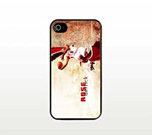 Derrick Rose iPhone 4 4s Case - Cool Black Plastic Snap-On Cover - Basketball Design