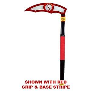 Red Blade - Classic Black Adult Kama - Karate Taekwondo (Black Stripe & Grip)
