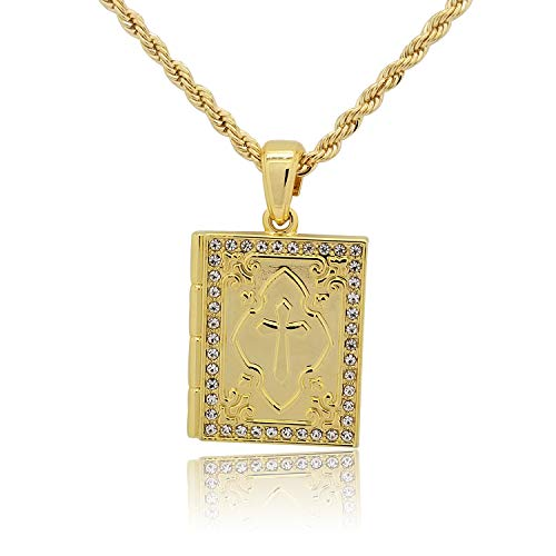 Yellow Gold-Tone Solid Iced Out Hip Hop