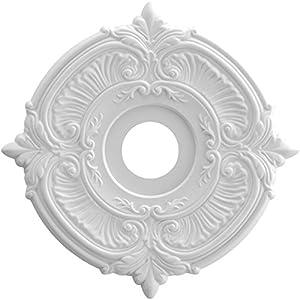 Ekena Millwork CMP16AT Attica Thermoformed PVC Ceiling Medallion, 16″OD x 3 1/2″ID x 1″ P, White