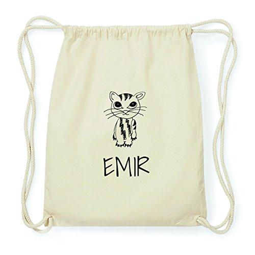 JOllipets EMIR Hipster Turnbeutel Tasche Rucksack aus Baumwolle Design: Katze