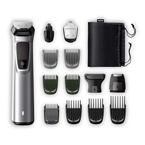 Philips Barbero MG7720/15 Recortador de barba y pelo, óptima precisión, 14 en 1 tecnología Dualcut