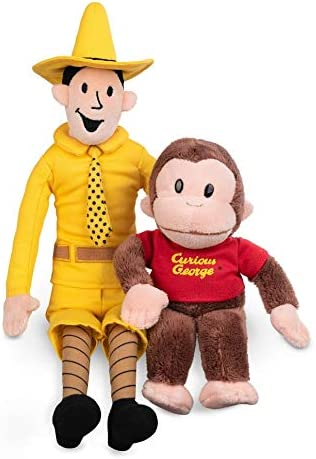GUND Plush Stuffed Doll The Man with The Yellow Hat and Curious George Bundle Soft Hugging Toy for Babies Big Children Toddler Boys /& Girls Exclusively Licensed Merchandise