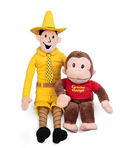 George Yellow Hat (GUND Plush Stuffed Doll The Man with The Yellow Hat and Curious George Bundle | Big, Soft, Hugging Toy for Babies, Children, Toddler Boys & Girls Exclusively Licensed)