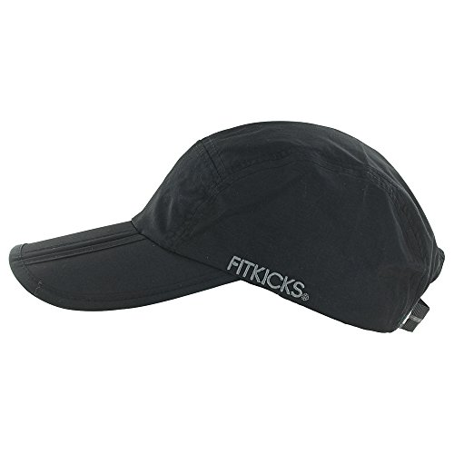 FitKicks Folding Sun Cap,Black,One (Day 50 Caps)