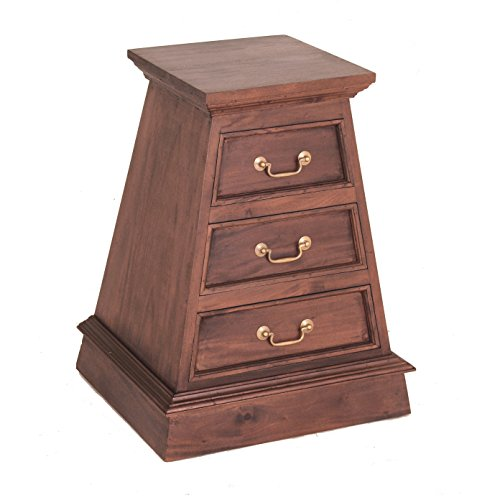 NES Furniture NES Fine Handcrafted Furniture Solid Mahogany Wood Cairo Nightstand / Bedside Table - 28 inches by NES Furniture