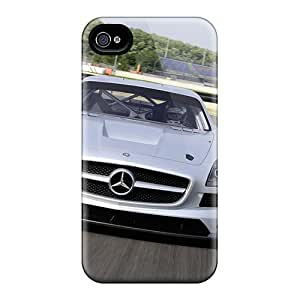 Durable Protector Case Cover With Sls Amg Gt3 2011 Hot Design For Iphone 4/4s