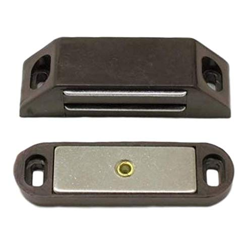 (Ultra Hardware 13504 Heavy Duty Magnetic Catch-Brown-Polybagged, Pack of 2)