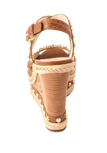 Michael Kors Jade Womens Hemp Leather Wedge Sandals Sz 8