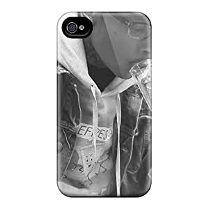 Scratch Protection Hard Phone Cover For Iphone 4/4s With Unique Design Beautiful Wiz Khalifa Skin PhilHolmes