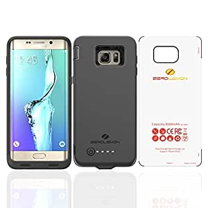 Galaxy S6 Edge Plus Battery Case, ZeroLemon Galaxy S6 Edge Plus 8500mAh Extended Charger Case with Soft TPU Full Edge Protection (Compatible with All Galaxy S6 Edge Plus Variants) - Black