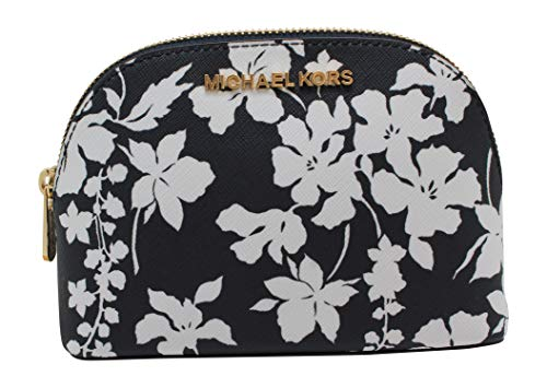Michael Kors Jet Set Large Travel Pouch Cosmetic Case (Navy/White) (Michael Kors Cosmetic Bag)