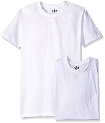 Umbro Men's 3-Pack Crew Neck T-Shirt, White, X-Large