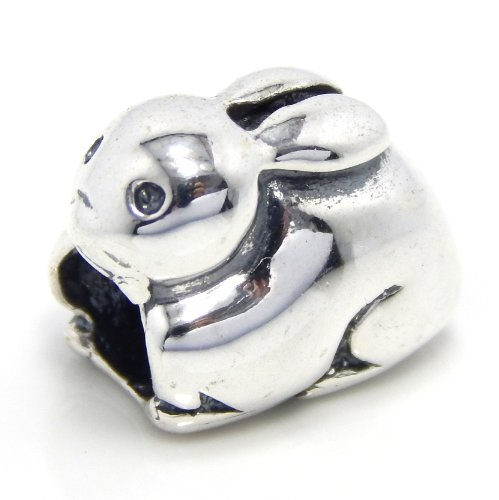 Charm Pugster Rabbit (Pro Jewelry .925 Sterling Silver