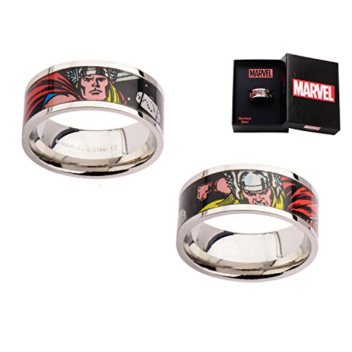Marvel Thor Printed Comics Stainless Steel Ring