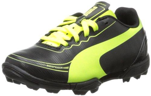 PUMA Evospeed 5.2 TT Soccer Cleat ,Black Fluorescent Yellow,