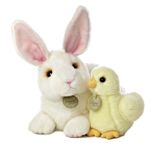 Aurora World Miyoni Rabbit and Chick Plush, 12