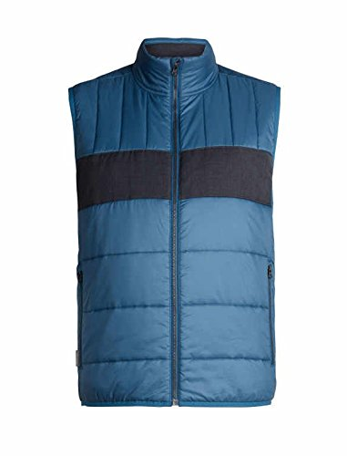 ef694fc1f2 Icebreaker Merino Men's Stratus X Vest Down Alternative Outerwear Coats,  Medium, Prussian Blue/