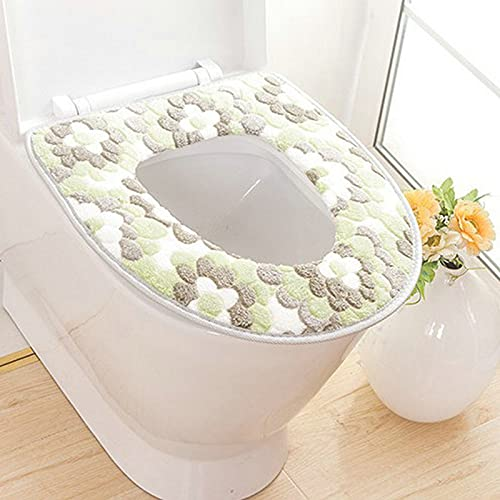 Taosheng zachte badkamer toiletzitting Closestool Wasbare Warmer Mat Cover Pad Kussen Badkamer Toilet Toilet Toilet Seat…