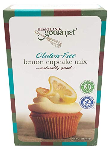 Heartland Gourmet: Gluten Free Lemon Cupcake Mix - Rich and Decadent - Certified Gluten Free Ingredients - All Purpose - Safe for Celiac Diet