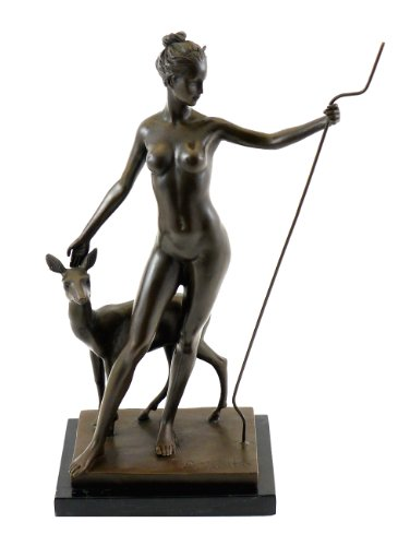 Kunst & Ambiente Bronze Figure by Edward McCartan - Diana and Doe - signed