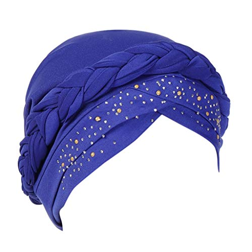 PASHY for Summer Headband Unlimited Slouchy Snood-Caps for Women with Chemo Cancer Hair Loss - Long Head Wrap Blue (Head Skibrille)