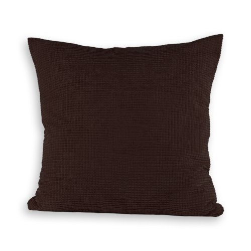 - Candy Color Soft Cuddly Solid Decorative Throw Pillow Cover Case, 17-inch Square (coffee)
