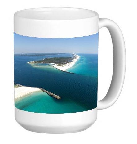 Popular Panama City Beach Shell Island Picture 15 ounce Ceramic Coffee Mug Tea Cup