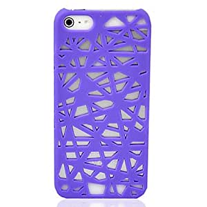 JJE Pink Hollow-Out Net Grain Pattern Plastic Case Protector Cover for iPhone 5 , Pink