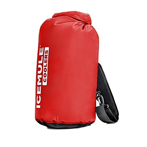 Crimson Collapsible (IceMule Classic Backpack Cooler - The Coldest Hands-Free Cooler - Soft-Sided, Insulated, Waterproof, Collapsible - Ideal for Hiking, Fishing, Camping, Picnics, the Beach - Crimson, Medium, 15 Liters)