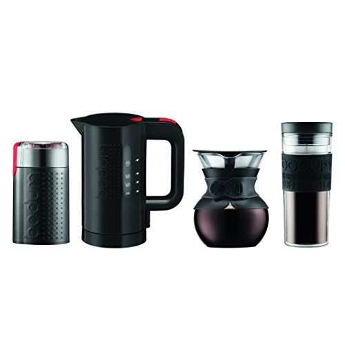 Bodum K11592-01US Pour Over Set, Black Bodum Stainless Steel Travel Mug