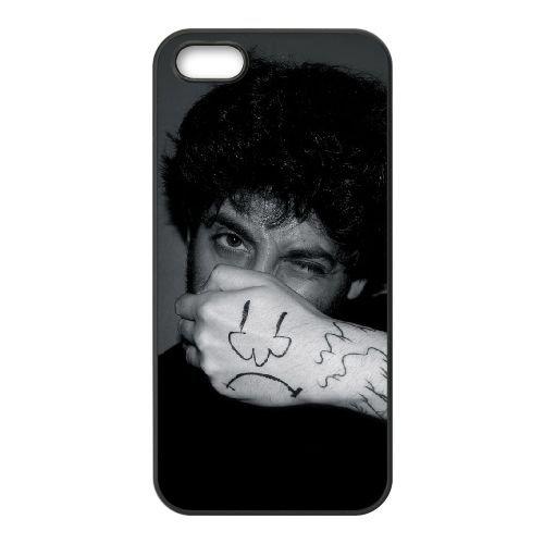 Joe Trohman 002 coque iPhone 5 5S cellulaire cas coque de téléphone cas téléphone cellulaire noir couvercle EOKXLLNCD24837