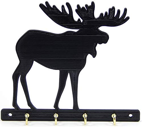 Moose Key Rack Holder Hanger Decor Entryway Organization Wall Key Hooks for Hunters and Outdoor Sportsmen