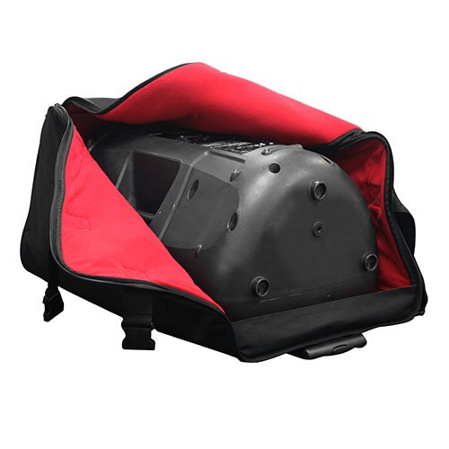 Odyssey BRLSPKLHW Series Speaker Trolley Bag with Pullout Handle and Wheels, Red by Odyssey