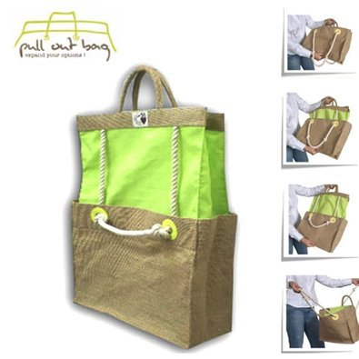 PULL OUT BAG ® Borsa Estensibili corsi Modulari - Ecologico: tela e cotone