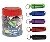 SE - Pill/ID Holder With Keychain - Small, Assorted Colors, 72 Pc - PH17C