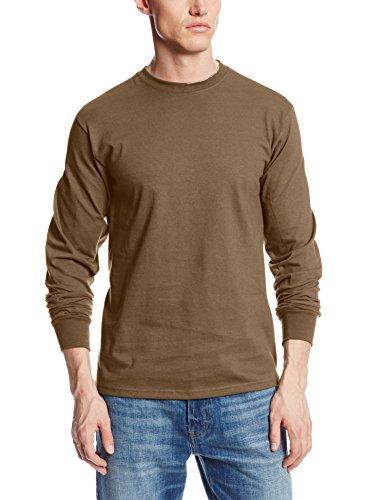 da478250 Hanes Men's Beefy-T Long Sleeve Henley, Ebony, Small - Buy Online in ...