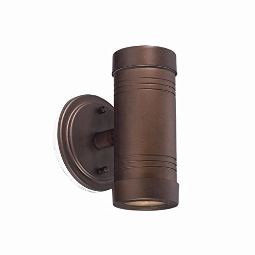Acclaim 7692ABZ Cylinders Collection 2-Light Wall Mount Outdoor Light Fixture, Architectural Bronze