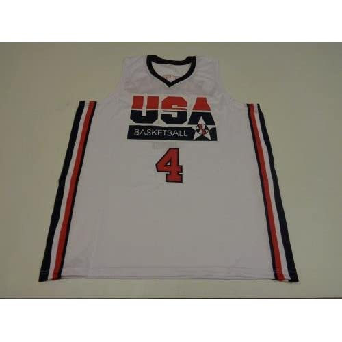 b236904b887 Autographed Christian Laettner Jersey - Dream Team USA white Witness - JSA  Certified - Autographed College