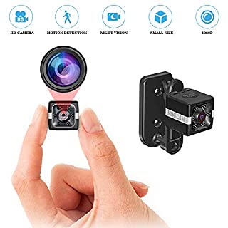 Spy Camera Wireless Mini Portable Hidden Cameras 1080P HD Security Camera 140 Degree Wide Angle Lens, Motion Detection Lnfrared Night Vision Outdoor/Indoor,(2020 Upgrade) Maximum Support 64G