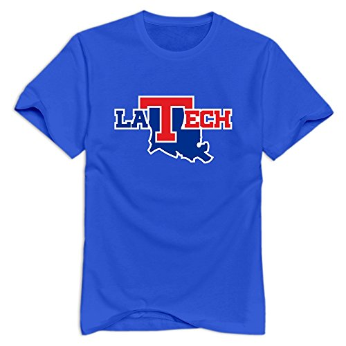 Tavil Louisiana Tech Bulldogs 100% Cotton T Shirt For Mens RoyalBlue Size S -