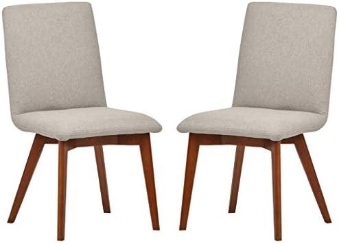Amazon Brand Rivet Ricky Mid-Century Modern Set of 2 Upholstered Dining Room Kitchen Chair
